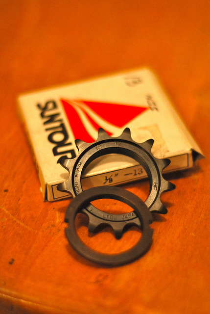 NOS SSP 13T NJS + NOS NIB SSP NJS lockring by klasolsson on Flickr.
