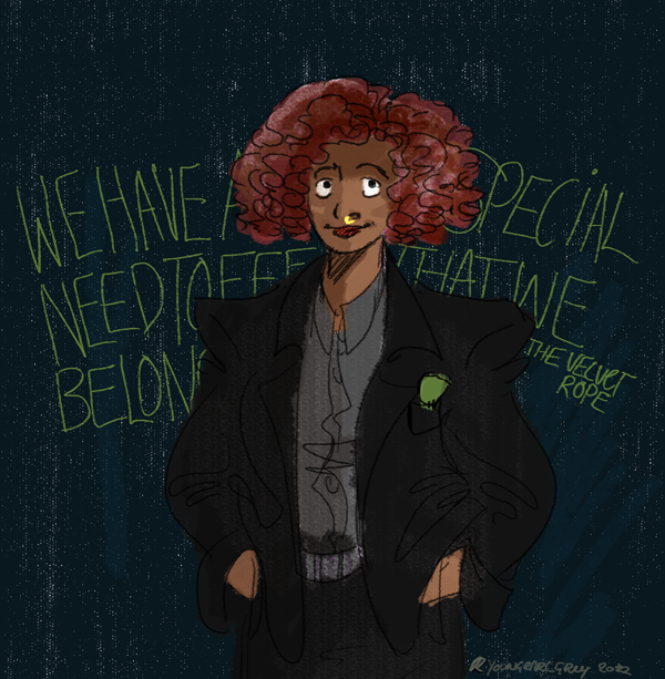 I promised I'd draw Janet more and her red hair is so adorable in the Velvet Rope era. So thusly….