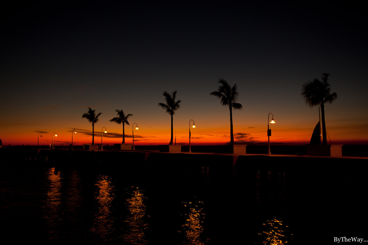 Sunset on the pier in Key West, Florida