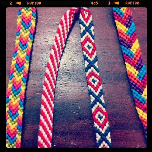 All in a day's work! Whoa. #diy #friendshipbracelet #friendshipbracelets  (Taken with instagram)