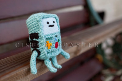 More adventure time craft! It's crochet beemo! Find the pattern here.