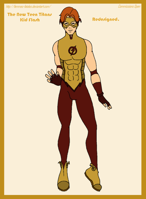 Kid Flash Redesigned by *Femmes-Fatales