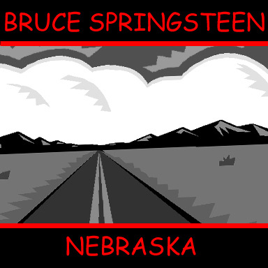 clipartcovers:  Nebraska by Bruce Springsteen. Original. Requested by thisisarealdream.