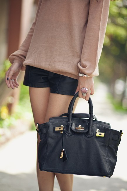 Black Birkin with gold hardware