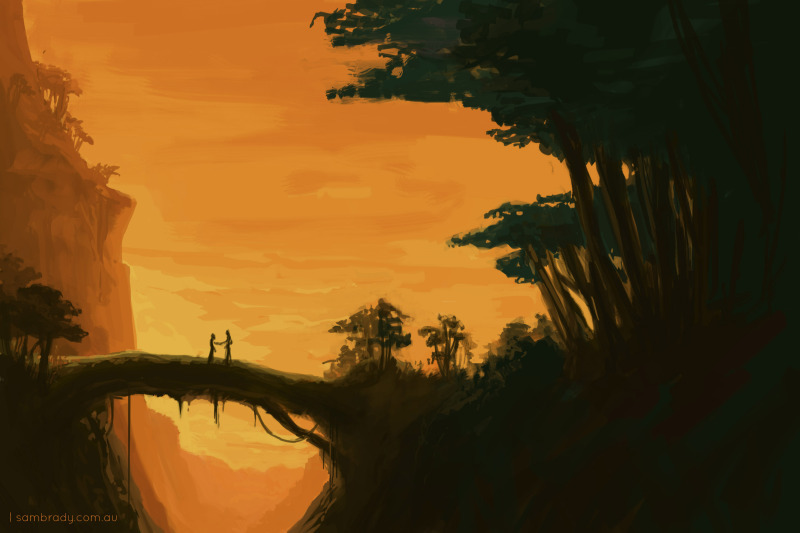 A landscape, because I need to practice perspective and light.