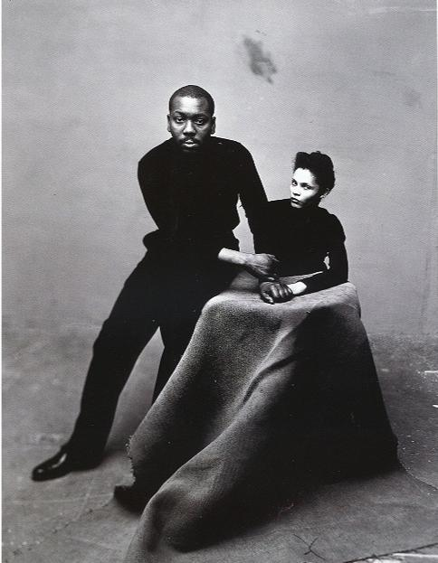 A vintage power couple shot: painter's  Jacob Lawrence and his wife Gwendolyn Knight Lawrence. And they were married to the end.