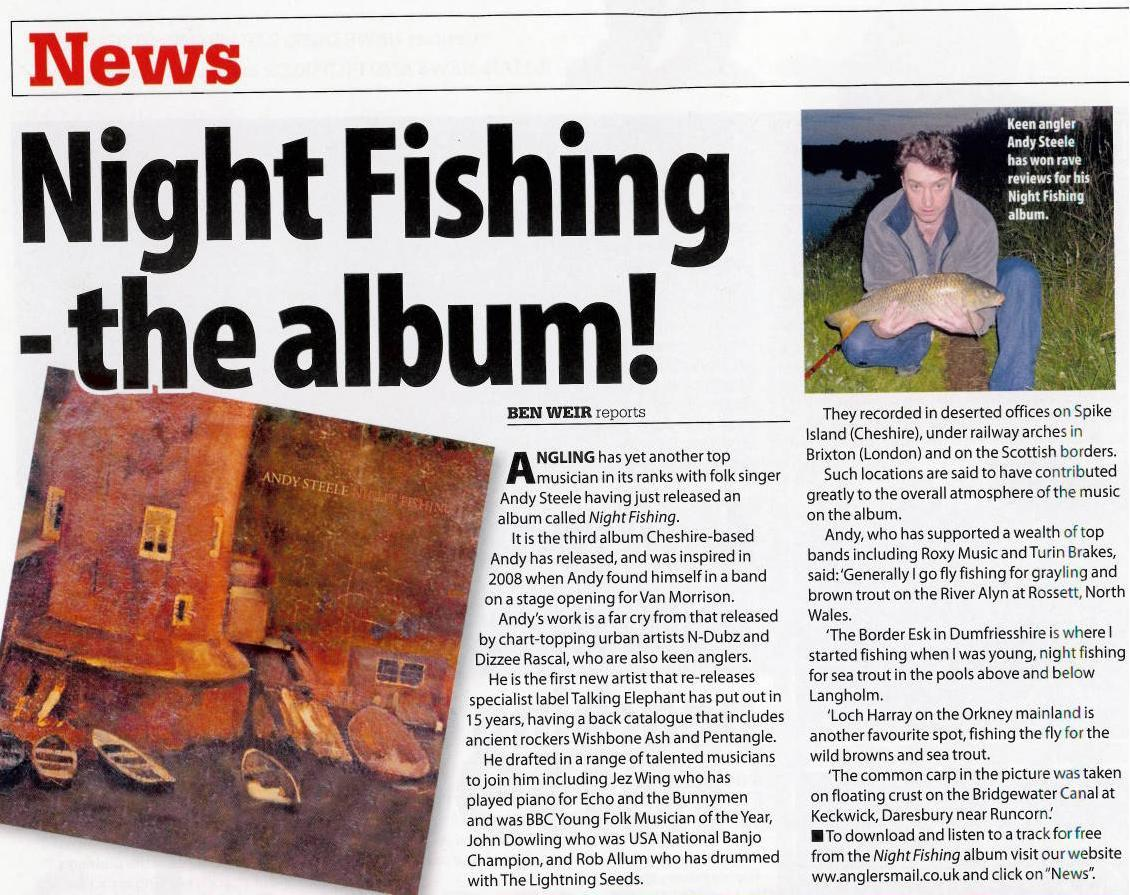 Andy Steele featured in Anglers Mail