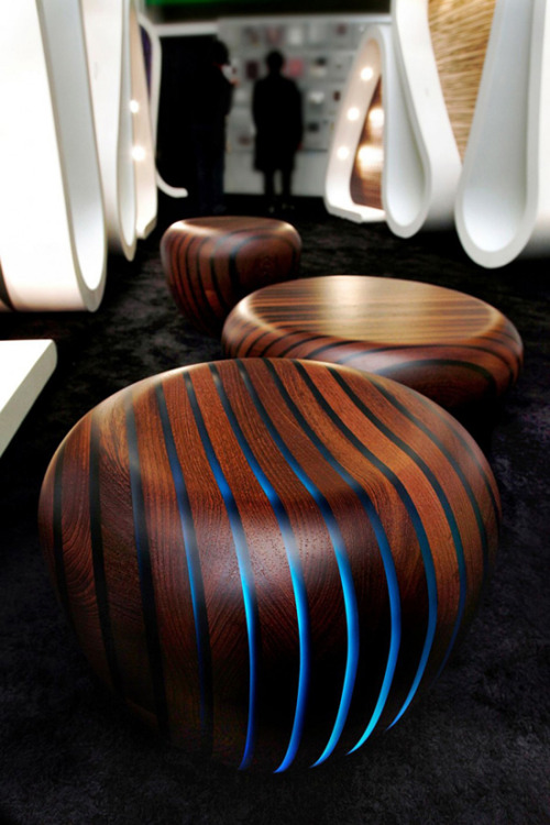 thetableoftruth:  Dope designer Stools. Out the Tron cabin collection.