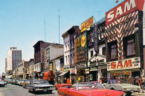 The Yonge Street strip, 1970s