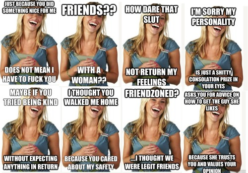 "happyhealthyhopeful:  Responses to the bullshittery that is ""friendzoning"""
