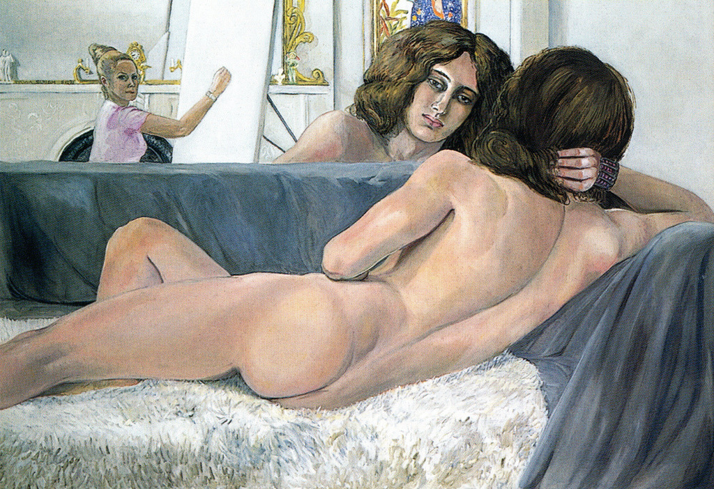 "malebeautyinart:  art-mirrors-art:  Sylvia Sleigh - Philip Golub Reclining (1971)  The male gaze and its relationship with the objectified female body is one of the most common tropes throughout art history. Sylvia Sleigh tried to reverse this tradition, turning conventional portraiture on its head by painting male nudes in poses that recalled the female subjects of artists such as Velazquez, Titian and Ingres, challenging not only conventional female iconography, but also images of masculinity. Late last month, she passed away in Manhattan at age 94. Sleigh helped spearhead the feminist art movement of the 1970s. Though her oeuvre of paintings includes a variety of subjects, male and female, clothed and unclothed, she is best known for her reclining male nudes, which commented on the traditional gendered relationship between sitter and painter. Depicting her subjects (often friends, fellow artists, and even her husband) posed as a reclining Venus or odalisque, she drew attention towards the way in which women have traditionally been rendered in art, offering viewers a new way of conceptualising the gendered relationship: through a female gaze. Some portraits allude to specific paintings, like the 1971 Philip Golub Reclining, which mimics the pose of Velazquez's Rokeby Venus. Similarly, The Turkish Bath (1973) borrows the title and composition of Ingre's painting, replacing his voluptuous harem women with a nude man strumming a guitar for five male companions. But I think it's important to note that her motivation wasn't to ridicule or get revenge on men- her images are constructed with great admiration for the male body, carefully bringing out the dignity and individuality of each subject. By showing men in the light traditionally reserved for women, her paintings became an opportunity to show women a pleasurable and beautiful image of the male form. As she explained: 'I feel that my paintings stress the equality of men and women. To me, women were often portrayed as sex objects in humiliating poses. I don't mind the ""desire"" part, it's the ""object"" that's not very nice. I wanted to give my perspective. I like to portray both man and woman as intelligent and thoughtful people with dignity and humanism that emphasized love and joy.'  [x]"