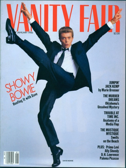 "Vanity Fair, January 1986""Showy Bowie: Hoofing It With Dave"""