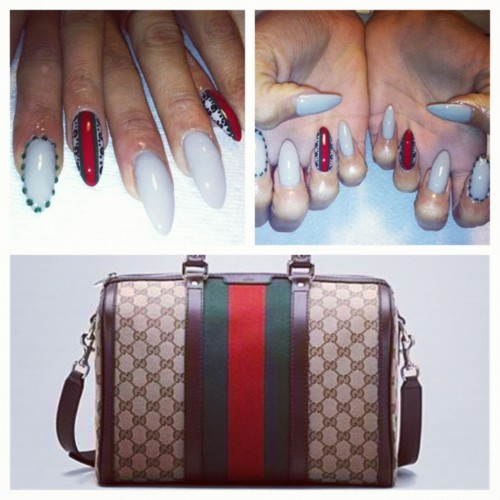 gucci nails nail art