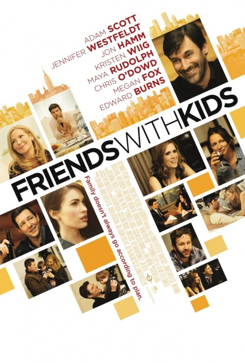 "tallwhitney:  popculturebrain:  Poster: Friends With Kids | IMP  Watched this today. SO GOOD, but definitely not ""Bridesmaids 2"" as some reviews have said.   Can't wait for this."
