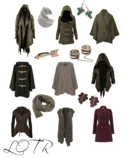 character-inspired-fashion:  Lord of the Rings inspired coats & accessories