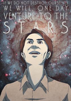 Illustration art space stars carl sagan science digital Astronomy