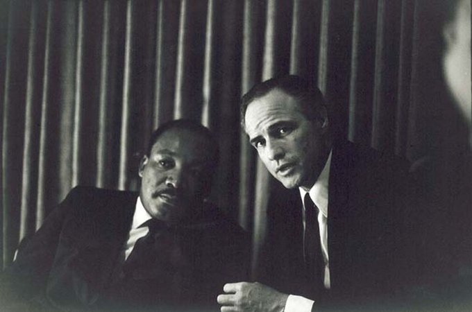 Martin Luther King Jr. and Marlon Brando, 1968
