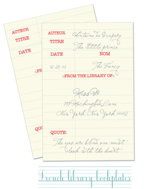 Freebie library-theme book plates.