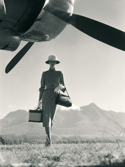 "jumblepusher:  Norman Parkinson. ""The Art of Travel"". 1951. South Africa. (Wenda Parkinson, Vogue)."
