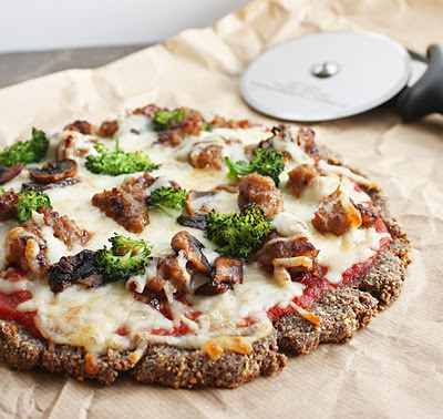 Zero Carb Flax Meal Pizza Crust