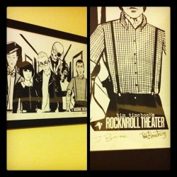 rankersandrotters:  Tim Timebomb's Rock 'n Roll Theater litho. Limited of 100 signed by Tim and the artist. Stoked (Taken with instagram)