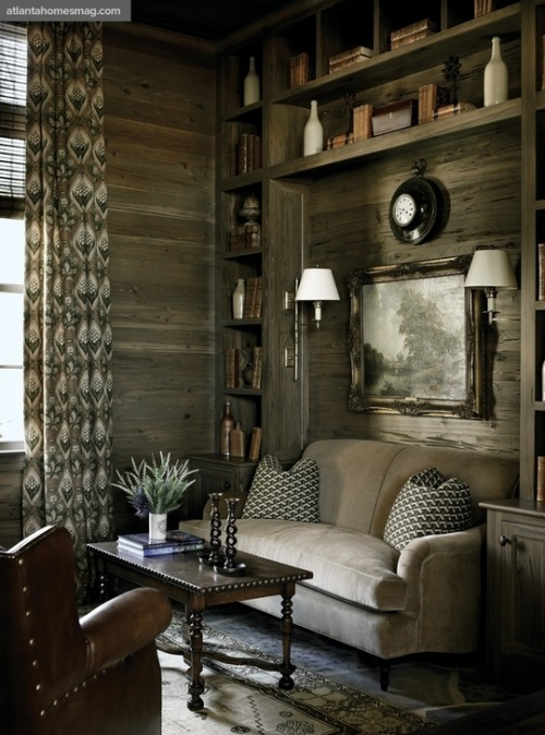 georgianadesign:  The new, natural paneling. Atlanta Homes Magazine.