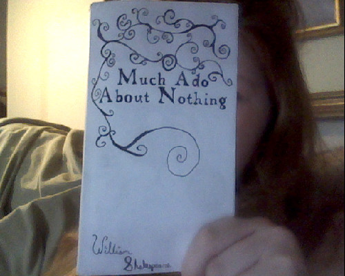 whowouldntlove:  Home-made book cover. Should I add more filigree?