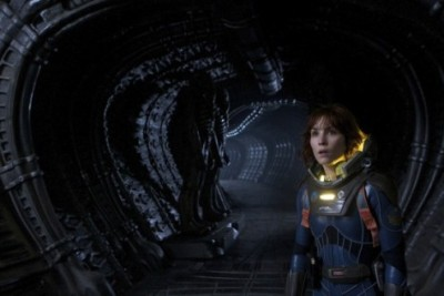 "New 'Prometheus' Image A new image from Ridley Scott's ""Prometheus"" has become available. The  image features the film's star Noomi Rapace with two creatures that look  similar to the ""Alien"" series ""Space Jockey"" behind her. The film is  set to explore the origin of said creatures as well as of mankind  itself. ""Prometheus"" opens in AMC theatres in 2D and 3D on June 8th, 2012. Source: Screen Rant  Source: AMC Theatres Want to see a movie tonight?  Get your tickets as well as theatre and show time information here!"
