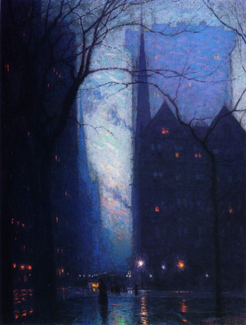 24ribs:  Lowell Birge Harrison, Fifth Avenue at Twilight