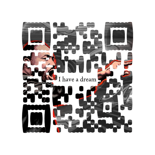 QR Code dedicated to Martin Luther King Jr. Scan and enjoy!