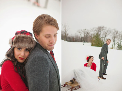 (vía Winter Wedding Ideas: Fun in the Snow | Green Wedding Shoes Wedding Blog | Wedding Trends for Stylish   Creative Brides)