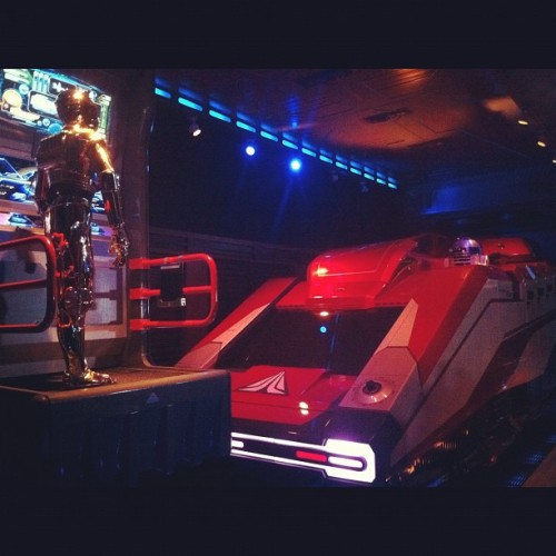 The StarSpeeder at Star Tours Disneyland- my new favorite ride! #Starwars #nerd #disney (Taken with instagram)
