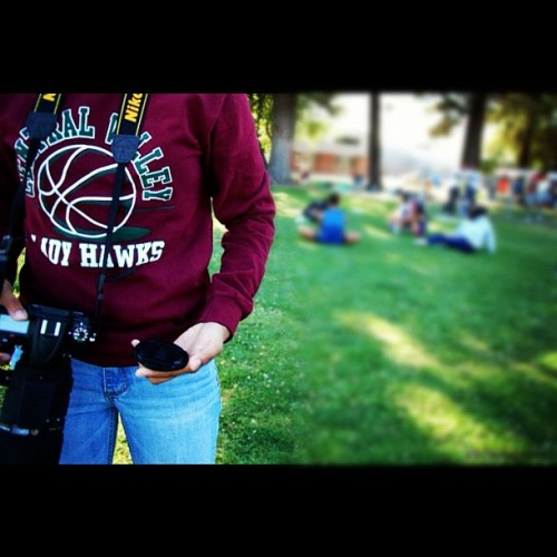 #modesto #camera #nikon #d7000 #sigma #lens #dslr #college #grass #centralvalley #cv #teen #girl #filipino #filipina #pinoy #pinay #asian #trees #teenager #swag #longsleeve #crewneck #people #basketball #hooper #mjc (Taken with Instagram at Modesto Junior College Stadium)