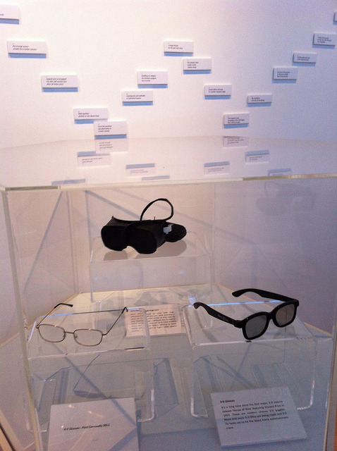 "KY Glasses - Sonar Goggles - 3D Glasses on Flickr. Via Flickr: Cabinet of spectacles that alter the way we view the world.  KY Glasses by artist Paul Conneally ""See the world through KY Gel"" Sonar Goggles by artist Nikki Pugh 3D Glasses - from cinema chain On the wall we see the Twenga 18 Knots by Paul Conneally and Gavin Wade All at Paul Conneally's show The Blind Fiddler - Home Entertainment 1806-2012 at Snibston Discovery Museum"