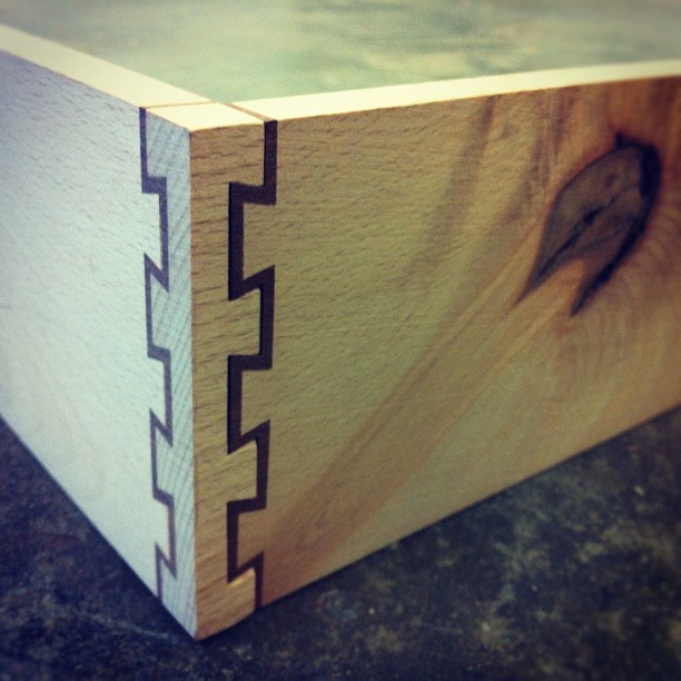 themanshop:  Double dovetails on the making. #wood #Timeconsuming (Taken with instagram)