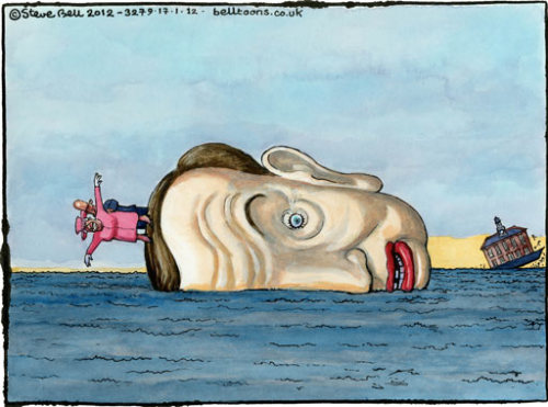 Steve Bell on Michael Gove's plans for the royal yacht – cartoon Michael Gove's plans for taxpayers to pay for a new royal yacht are holed below the waterline (via The Guardian)