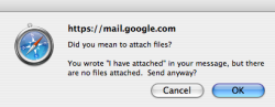 Didn't know gmail did this, CLEVER GMAIL! But I didn't need it. Nice to know though.