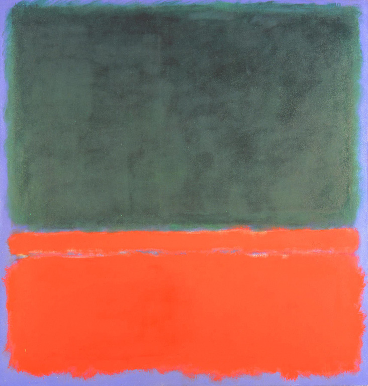 ART |Mark Rothko, Green, Red, Blue, (1955
