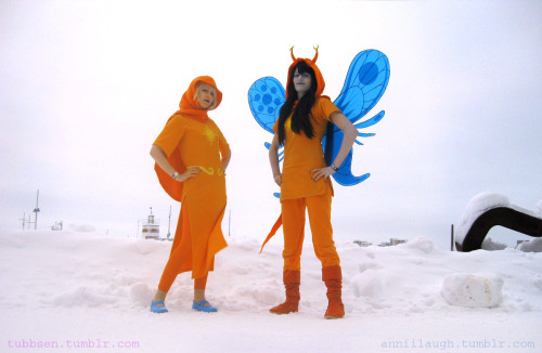 anniilaugh:  The Heroes of Light Vriska Serket - me, Rose Lalonde - tubbsen [edit] adjusted the lighting better.  > Rose and Vriska: Freeze to death in a hard boiled manner.