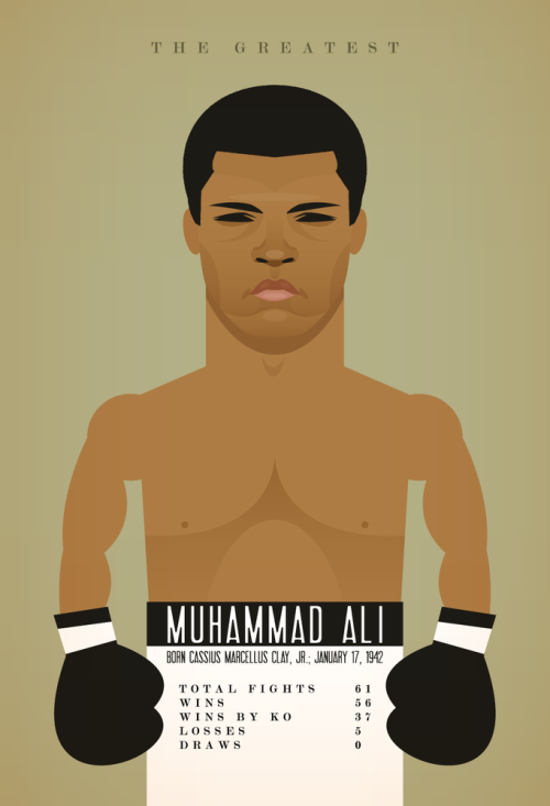 stanleychowillustration:  Happy 70th Birthday Muhammad Ali