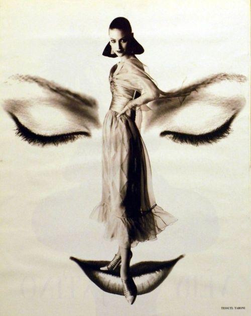 maliciousglamour:  Shalom Harlow, circa 1993Photographer: Satoshi SaïkusaValentino, Falll 1993 Couture