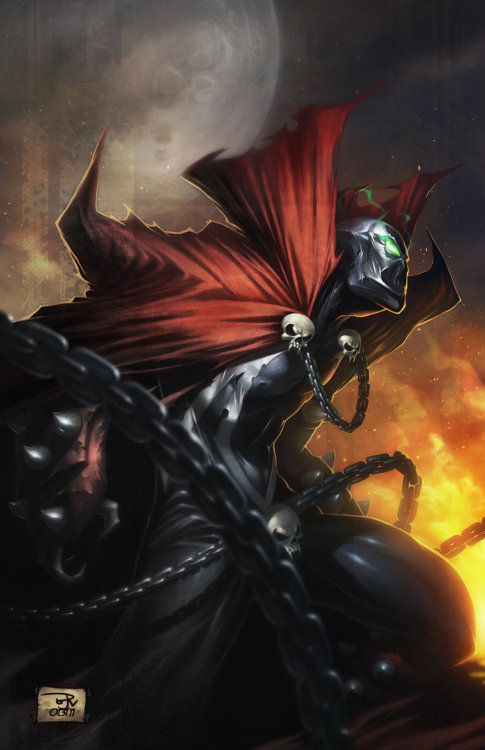 comicsforever:  Spawn // artwork by Brian Valeza (2011)