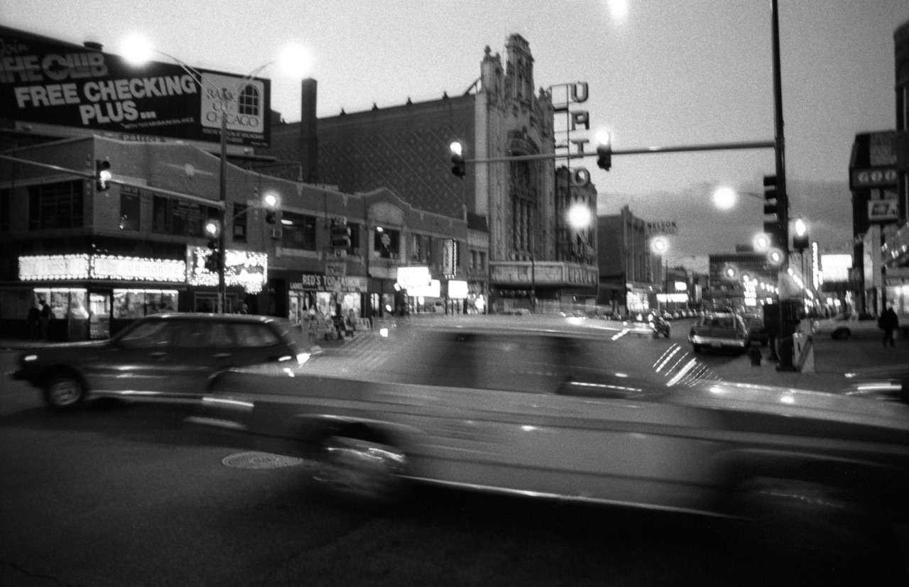 Taxi on Lawrence at Broadway -1987 - Uptown, Chicago, IL