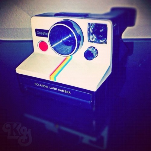 "Polaroid OneStep. Wonder why they call it a ""Land Camera""? #polaroid #onestep #landcamera #photography #statigram #instagram #camera #iphone4  (Taken with instagram)"