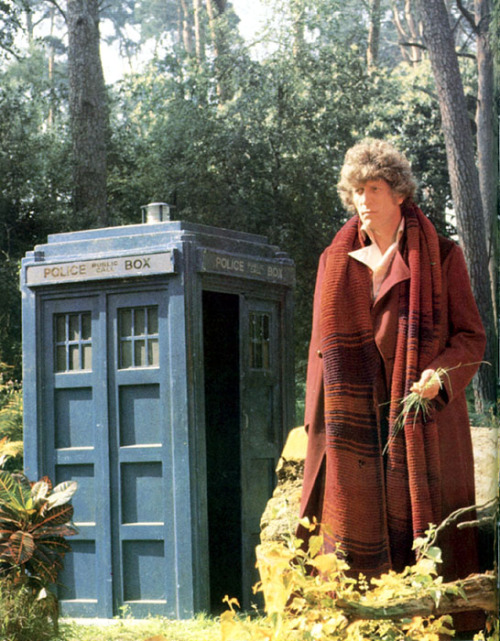 doctorwho:  Fourth Doctor + TARDIS  I FIND HIM ATTRACTIVE OK?