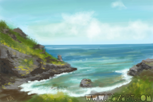 Practicing speed painting with landscapes.