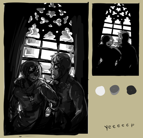 second study for black and white composition homework DAMN MY BRAIN thing