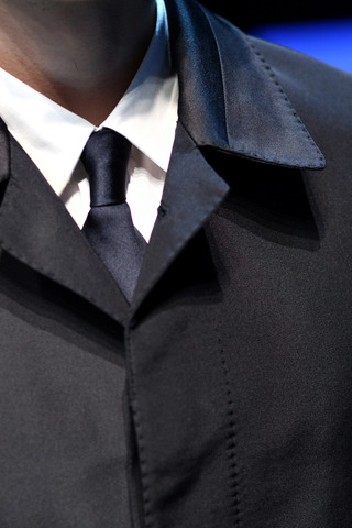 Fendi Fall 2012 Tie and Shirt close-up