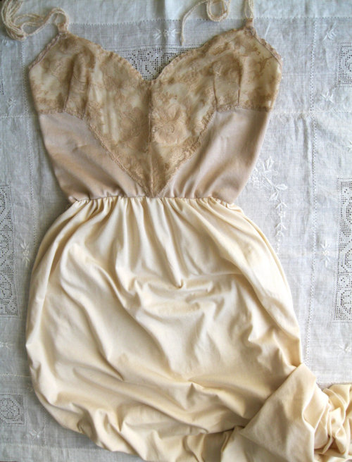 I have one too many lace slips and dresses as it is, but oh, this one.  oh. oh. oh. Dresses like this remind me that sometimes, it is the loveliest thing ever to be a woman. Love, M