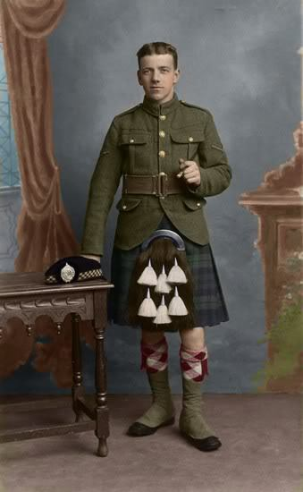 We need more kilts… how about an Argyll Highlander from WWI? (xmarksthescot)